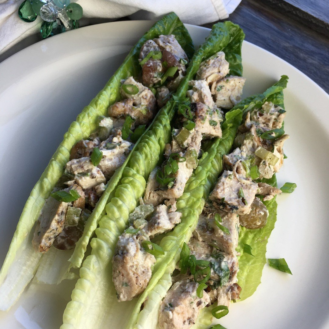 chicken salad lettuce wraps